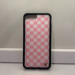 PINK CHECKERBOARD WILDFLOWER CASE FOR IPHONE 8+